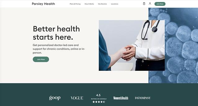 Parsley Health website
