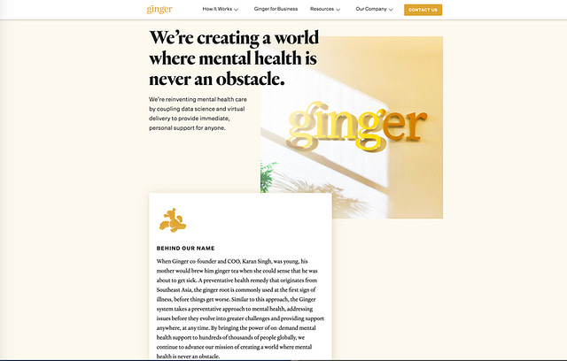 Ginger purpose and story