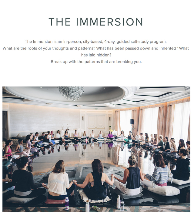The Class Immersion