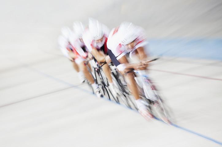bike race demonstrating strategy race