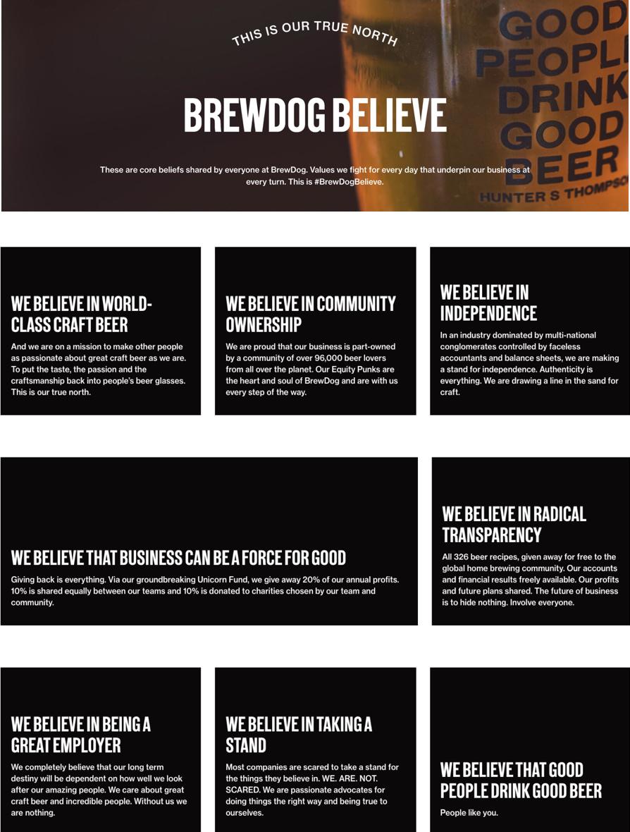 BrewDog brand principles