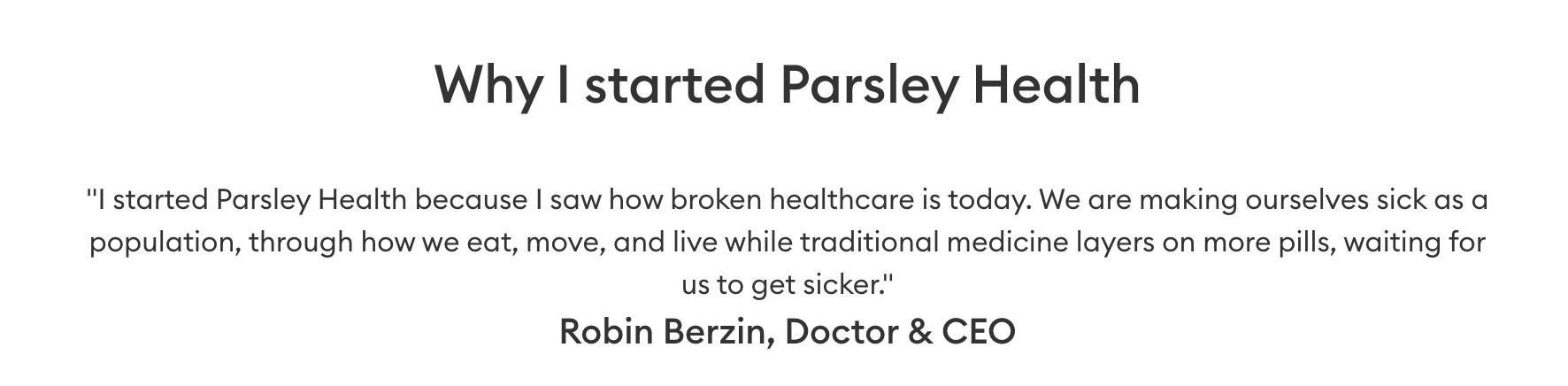 Parsley Health name