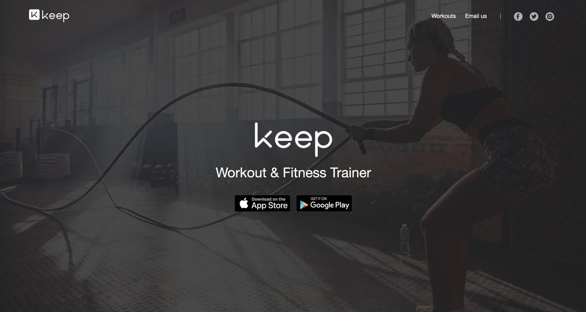 keep fitness app