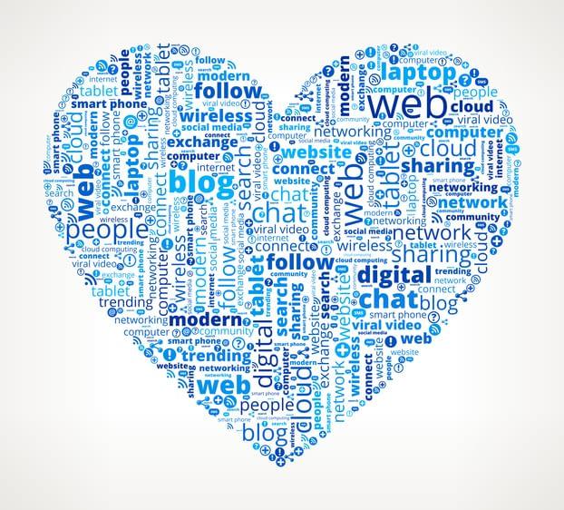digital marketing heart shape